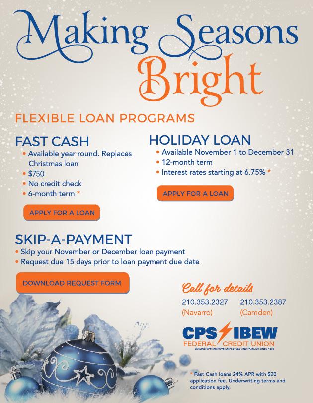 Federal Credit Union San Antonio | IBEW Credit Union | CPS Credit Union | Holiday Loan