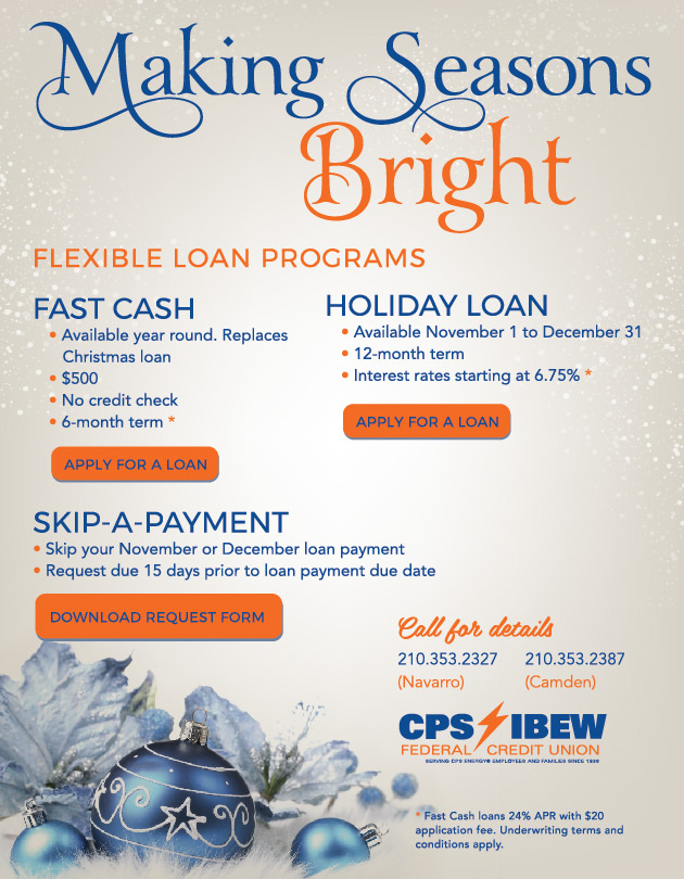 Federal Credit Union San Antonio | IBEW Credit Union | CPS Credit Union | Holiday Loan