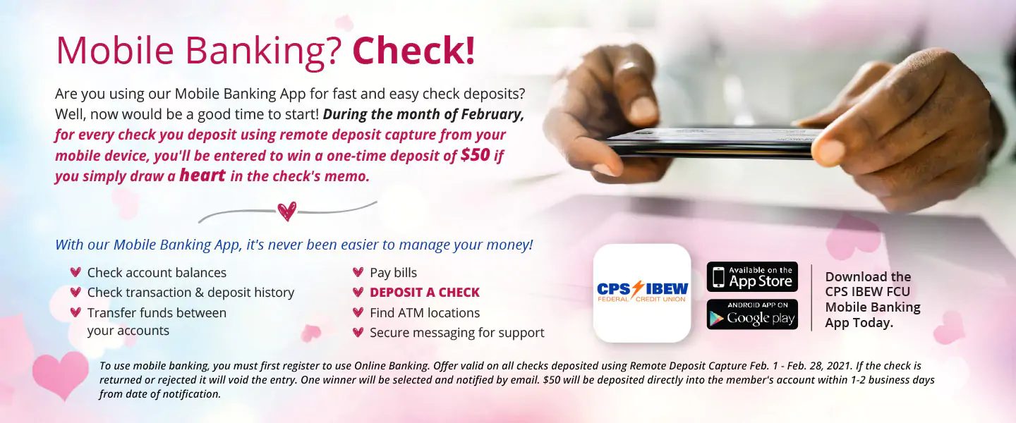 Mobile Banking? Check! | Download the CPS IBEW FCU Mobile Banking App Today