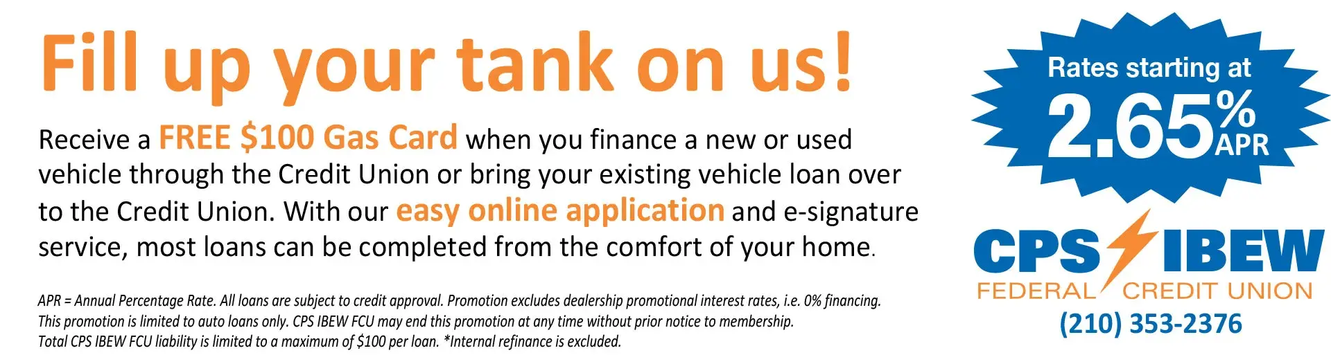 Federal Credit Union San Antonio | IBEW Credit Union | CPS Credit Union | Fill up your tank on us